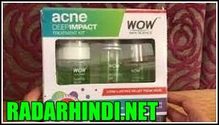 Keel Muhase Ki Cream WOW Acne DEEP IMPACT TREATMENT KIT – STEP 1-2-3 - Acne Spot Therapy