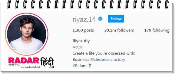 Riyaz Aly Ki Instagram Id riyaz.14