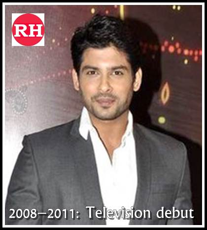 sidharth shukla pic in 2008–2011 Television debut